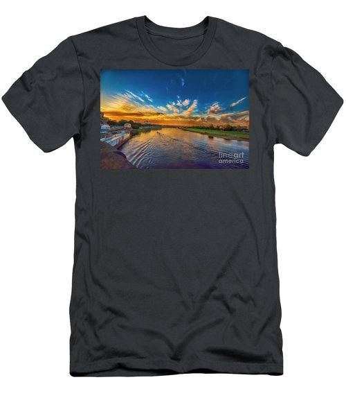 Sunset In Dresden Men's T-Shirt (Athletic Fit)
