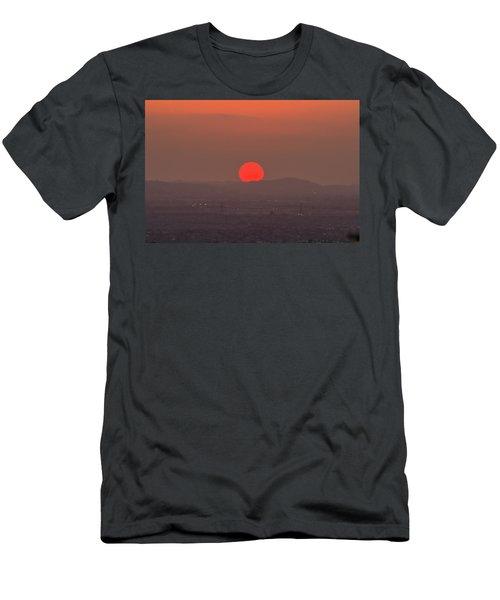 Sunset In Smog Men's T-Shirt (Slim Fit) by Hyuntae Kim