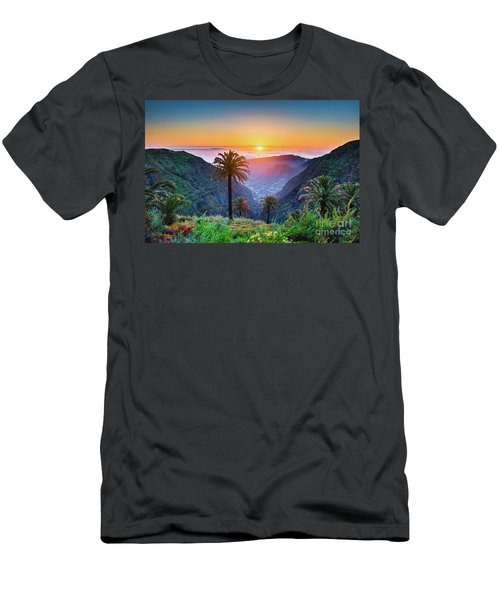Sunset In The Canary Islands Men's T-Shirt (Slim Fit) by JR Photography