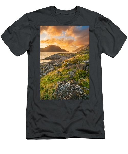 Sunset In The North Men's T-Shirt (Slim Fit) by Maciej Markiewicz