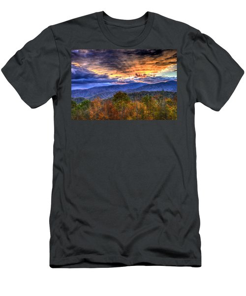 Sunset In The Smokies Men's T-Shirt (Athletic Fit)