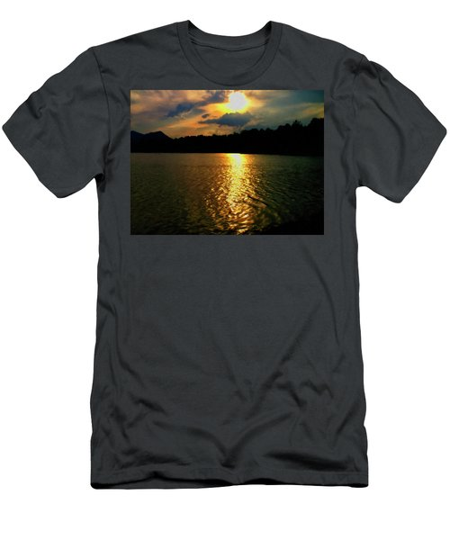 Men's T-Shirt (Slim Fit) featuring the digital art Sunset In The Smoky Mountains 1 by Chris Flees