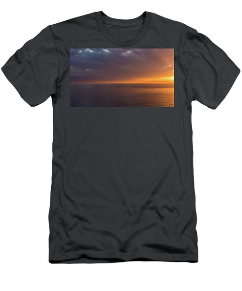 Men's T-Shirt (Athletic Fit) featuring the photograph Sunset In Tracey Arm by Brenda Jacobs