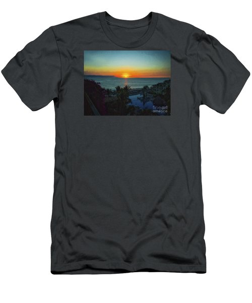 Sunset In Vallarta  ... Men's T-Shirt (Slim Fit) by Chuck Caramella