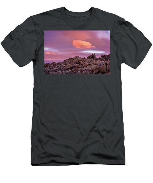 Men's T-Shirt (Athletic Fit) featuring the photograph Sunset Lenticular by John Hight