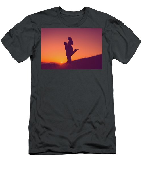 Sunset Love Men's T-Shirt (Athletic Fit)