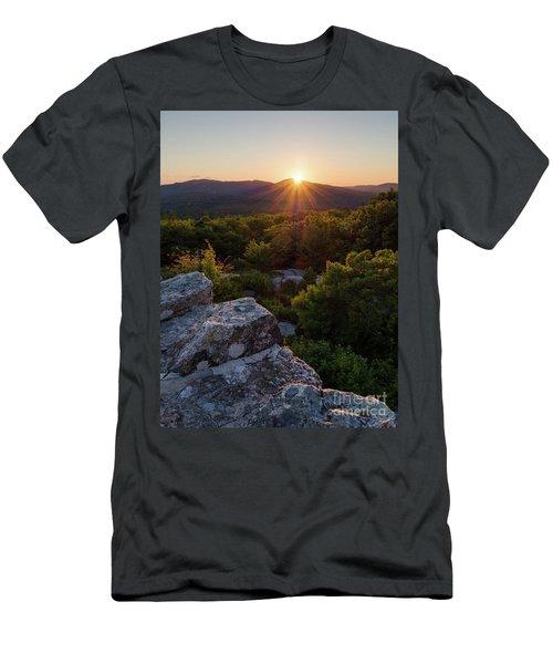 Sunset, Mt. Battie, Camden, Maine 33788-33791 Men's T-Shirt (Slim Fit) by John Bald