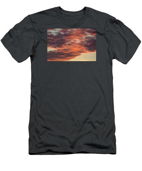 Sunset On Hunton Lane #10 Men's T-Shirt (Slim Fit) by Carlee Ojeda
