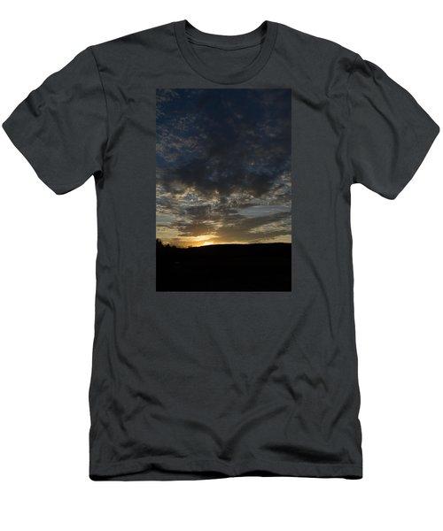 Sunset On Hunton Lane #2 Men's T-Shirt (Slim Fit) by Carlee Ojeda