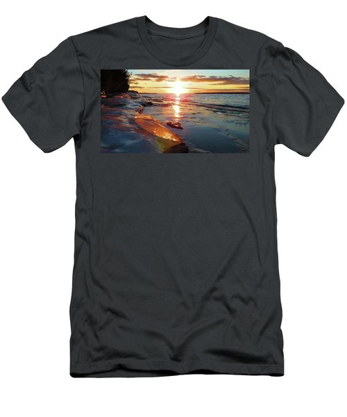 Sunset On Ice Men's T-Shirt (Athletic Fit)