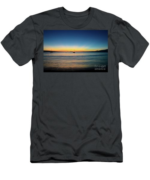Sunset On Ka'anapali Beach Men's T-Shirt (Slim Fit) by Kelly Wade
