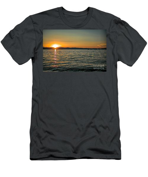 Sunset On Left Men's T-Shirt (Athletic Fit)