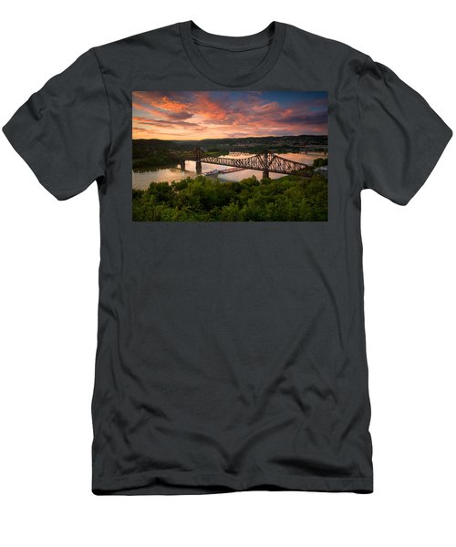 Sunset On Ohio River  Men's T-Shirt (Athletic Fit)