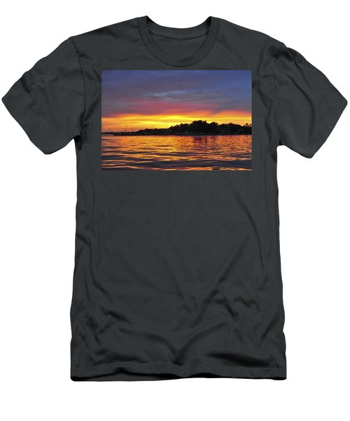 Sunset On The Bay Island Heights Nj Men's T-Shirt (Athletic Fit)