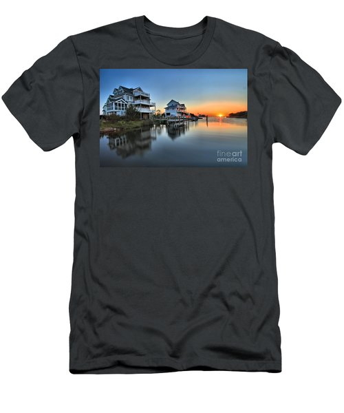 Sunset On The Obx Sound Men's T-Shirt (Athletic Fit)