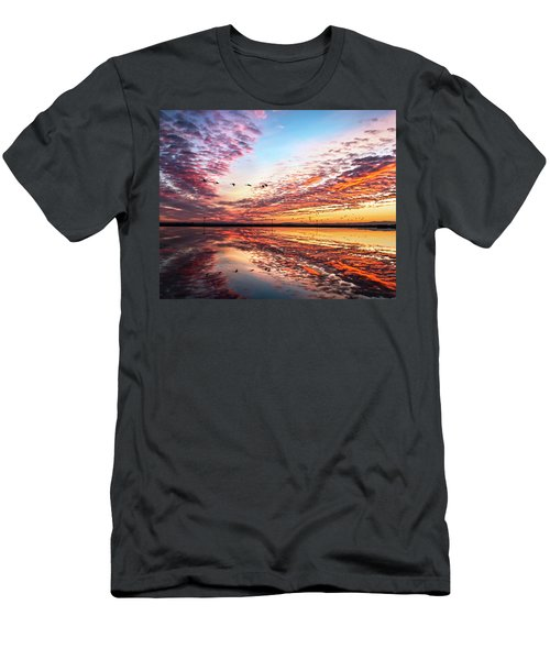 Sunset On The Pacific Flyway Men's T-Shirt (Athletic Fit)