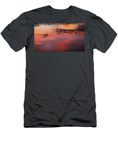 Men's T-Shirt (Slim Fit) featuring the photograph Sunset On Water by Theresa Tahara
