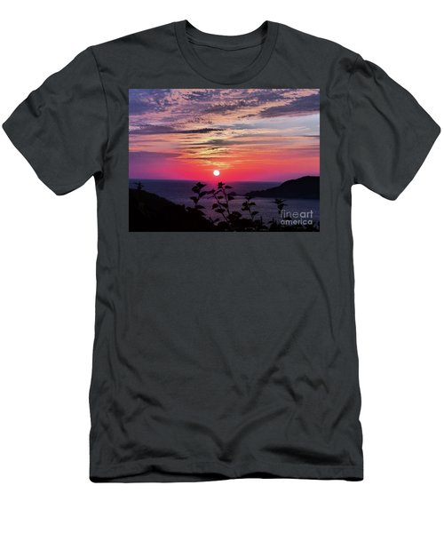 Sunset On Zihuatanejo Bay Men's T-Shirt (Athletic Fit)