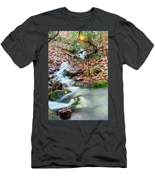 Men's T-Shirt (Slim Fit) featuring the photograph Sunset Over An Oak Mountain Stream by Parker Cunningham