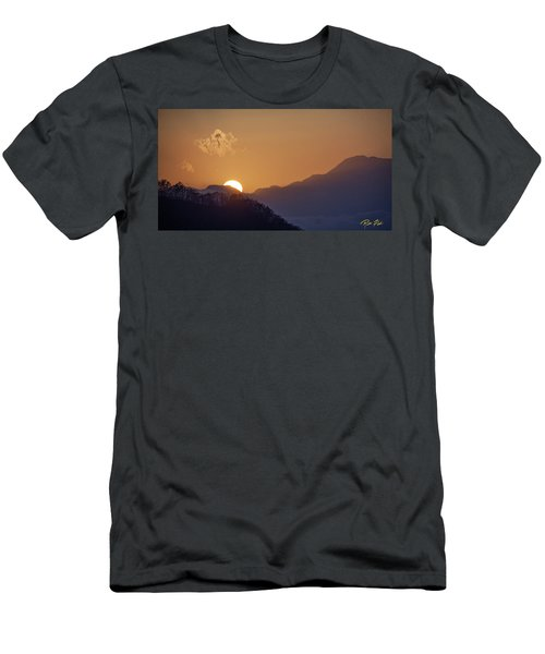 Men's T-Shirt (Athletic Fit) featuring the photograph Sunset Over Asia  by Rikk Flohr