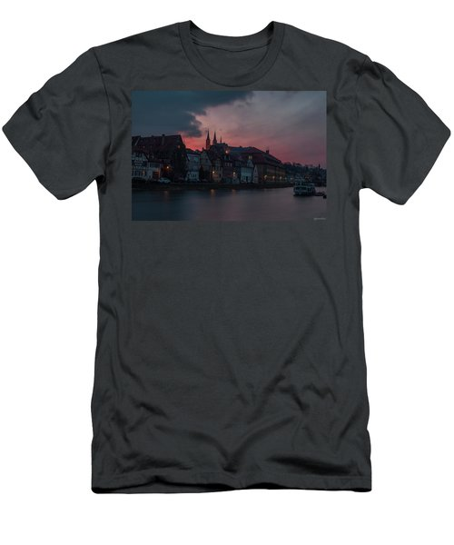 Sunset Over Bamberg Men's T-Shirt (Slim Fit) by Photo Escape