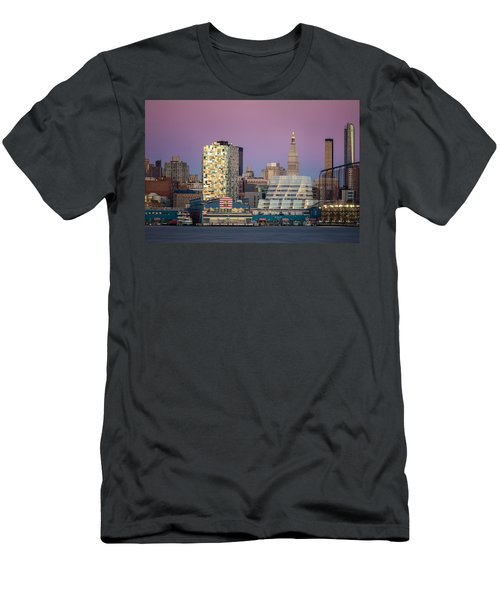 Men's T-Shirt (Slim Fit) featuring the photograph Sunset Over Chelsea by Eduard Moldoveanu