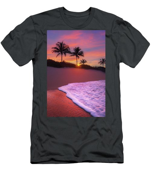 Sunset Over Coral Cove Park In Jupiter, Florida Men's T-Shirt (Slim Fit) by Justin Kelefas