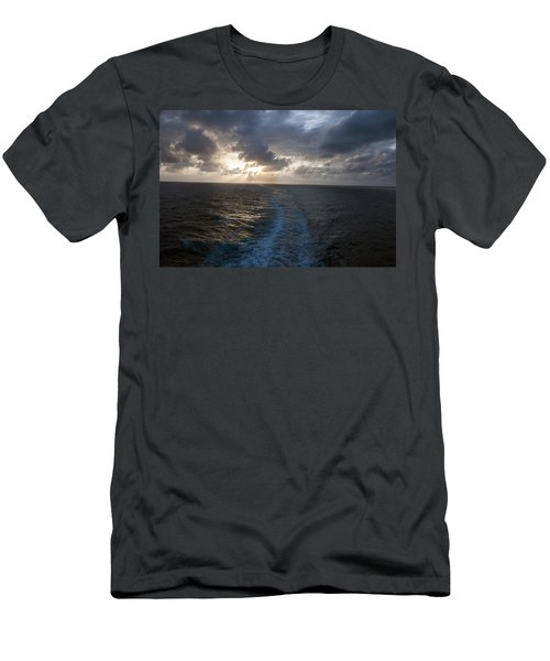 Sunset Over Fort Lauderdale Men's T-Shirt (Slim Fit) by Allen Carroll