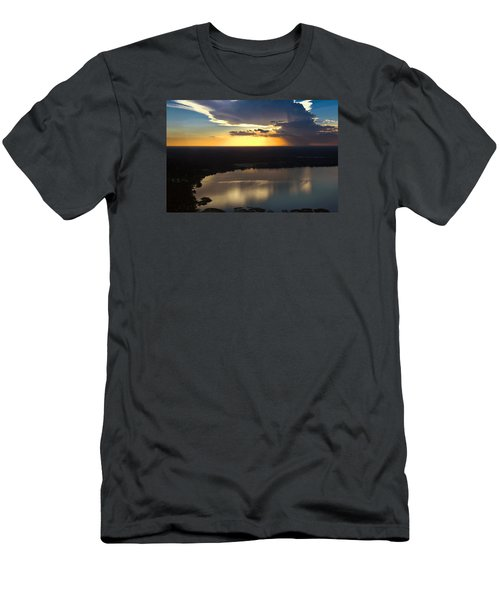 Men's T-Shirt (Slim Fit) featuring the photograph Sunset Over Lake by Carolyn Marshall