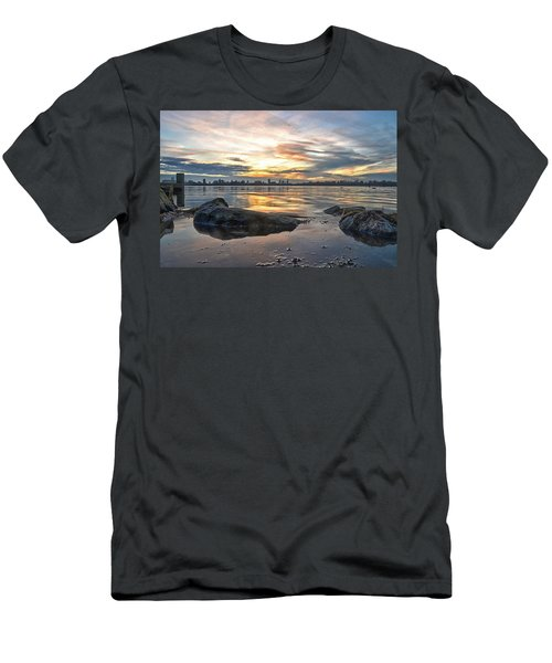 Sunset Over Lake Kralingen  Men's T-Shirt (Athletic Fit)