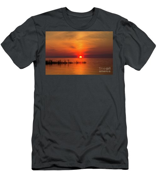 Sunset Over Lake Michigan Men's T-Shirt (Athletic Fit)