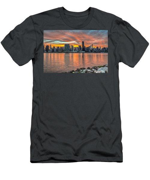 Sunset Over Manhattan, Gantry Plaza Men's T-Shirt (Athletic Fit)