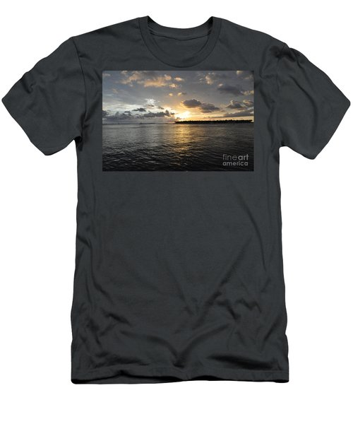 Sunset Over Sunset Key Men's T-Shirt (Slim Fit) by John Black