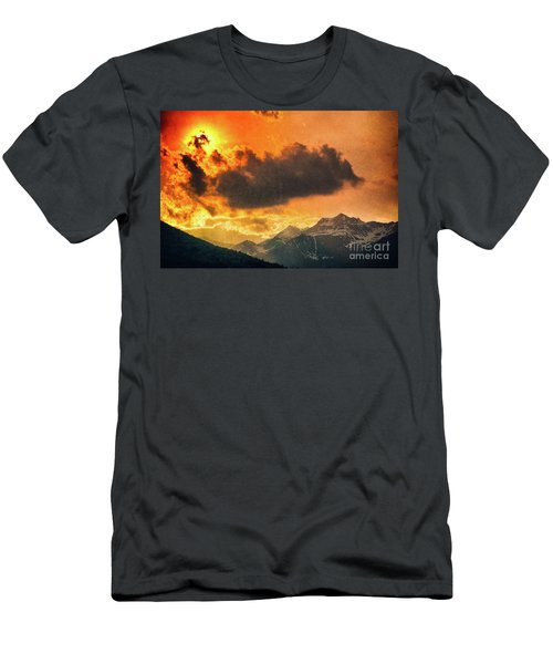 Men's T-Shirt (Athletic Fit) featuring the photograph Sunset Over The Alps by Silvia Ganora