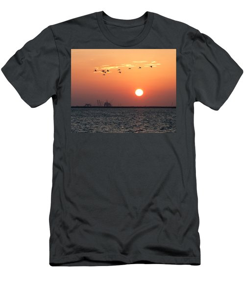Sunset Over The Bay Men's T-Shirt (Athletic Fit)