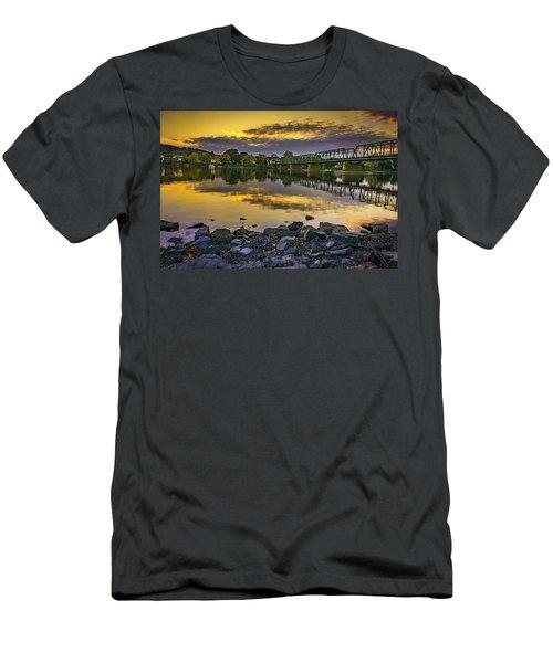 Sunset Over The Bridge Men's T-Shirt (Athletic Fit)