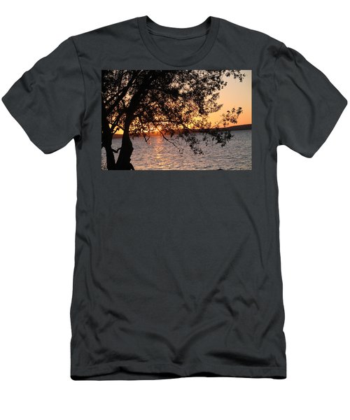 Sunset Over The Caribbean In Cienfuegos, Cuba Men's T-Shirt (Athletic Fit)