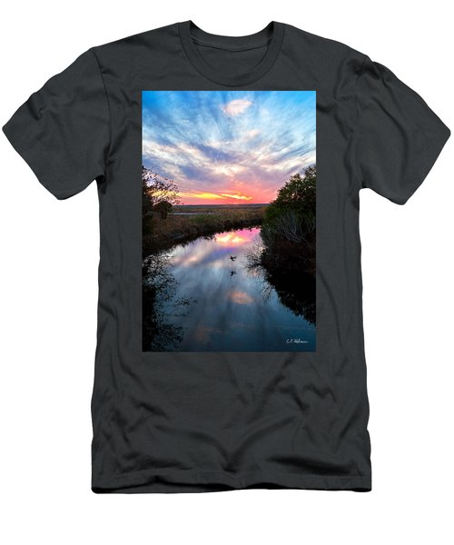 Sunset Over The Marsh Men's T-Shirt (Athletic Fit)