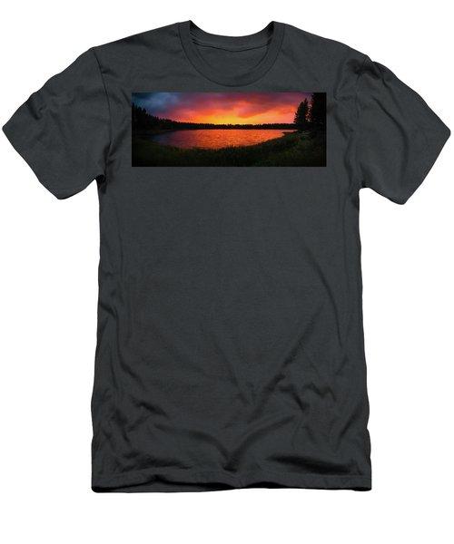 Sunset Panorama Men's T-Shirt (Slim Fit) by Teemu Tretjakov