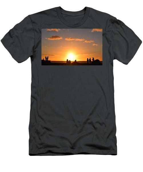Sunset People In Imperial Beach Men's T-Shirt (Slim Fit) by Karen J Shine