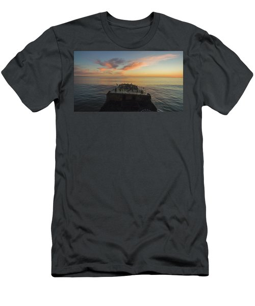 Sunset Perch Men's T-Shirt (Athletic Fit)