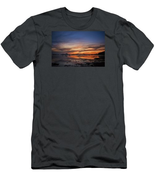 Sunset Pi Men's T-Shirt (Athletic Fit)