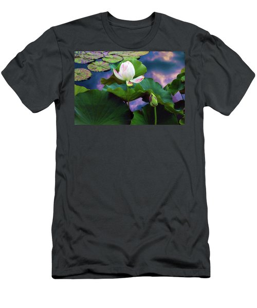 Sunset Pond Lotus Men's T-Shirt (Athletic Fit)