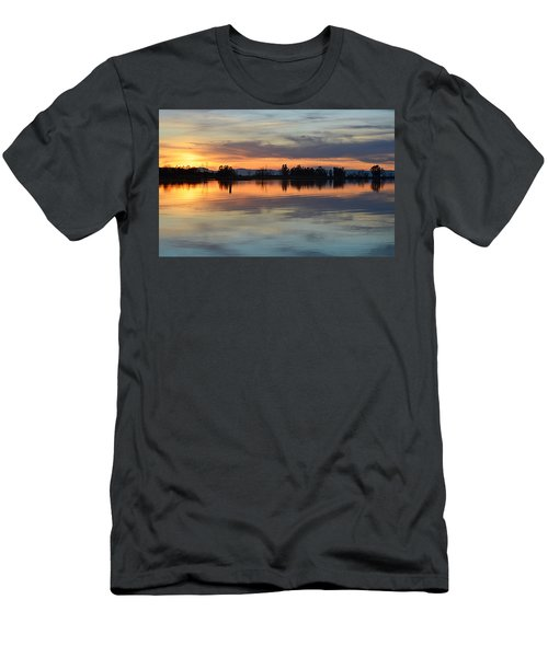 Men's T-Shirt (Athletic Fit) featuring the photograph Sunset Reflections by AJ Schibig