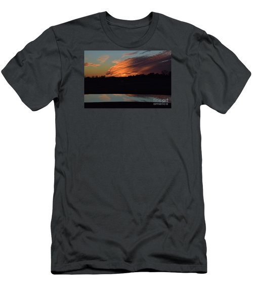Sunset Reflections Men's T-Shirt (Slim Fit) by Mark McReynolds
