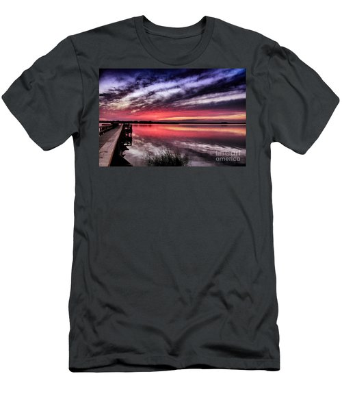 Men's T-Shirt (Slim Fit) featuring the photograph Sunset Reflections by Phil Mancuso
