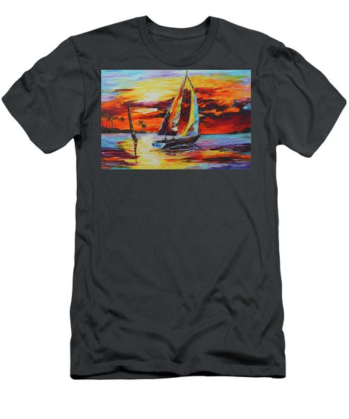 Sunset Sail Men's T-Shirt (Athletic Fit)