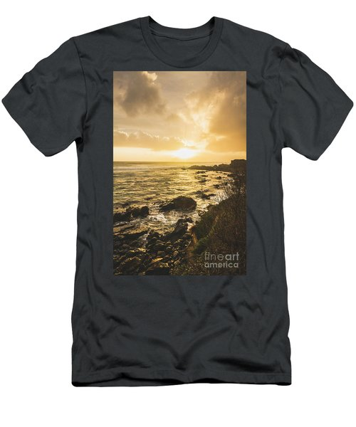 Sunset Seascape Men's T-Shirt (Athletic Fit)