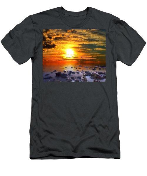 Sunset Shoreline Men's T-Shirt (Athletic Fit)