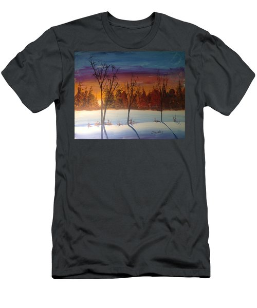 Sunset Snow Men's T-Shirt (Athletic Fit)